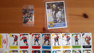 Collection variées de cartes de hockey