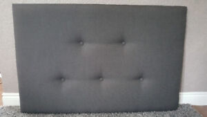 **BRAND NEW DARK GREY UPHOLSTERED HEADBOARD WITH BUTTON DETAIL**