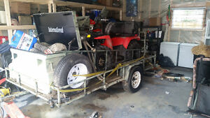 6x10 utility trailer for sale, set up for quad and hunting.