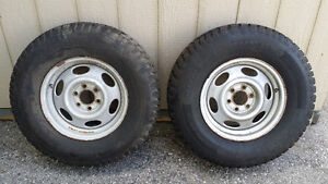 2 Snow Tires for Sale on Dodge Rims