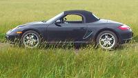 *** Porsche Boxster 2007, noir, 48200 km, manuelle, état A-1 ***