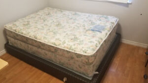 Double bed and box spring and queen box spring
