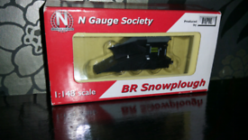 N gauge black dapol snowplough