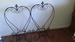 Two heart shaped planters