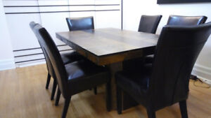 Exclusive Bold-Looking Dinning Table, 6 Chairs, & Coffee Table