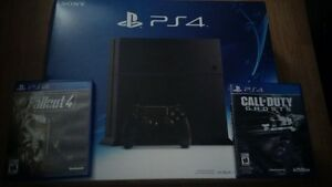 Playstation 4 + boite facture + fallout 4 et call of duty