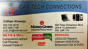 WE REPAIR ALL TYPE OF LAPTOP AND CELL PHONES