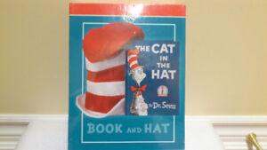 THE CAT IN THE HAT BOOK AND HAT HARDCOVER