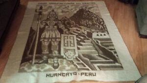 Very unique Peru Hurncryo heavy wool blanket