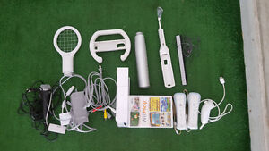 Nintendo Wii console, Rockband set and games