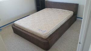 QUEEN SIZE RATAN BED WITH MATTRESS