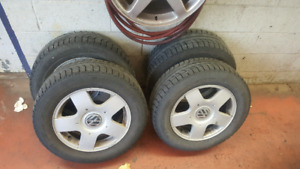 P195/65R15 Snow tires with rims