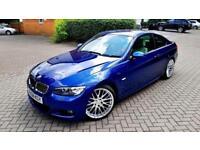 SUPERB BLUE BMW 3 SERIES 325D 3.0 DIESEL M SPORT AUTOMATIC BEIGE LEATHER SAT NAV