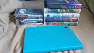 Ipad case, vhs movie, ps3 games