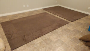 Brown area rugs x 2