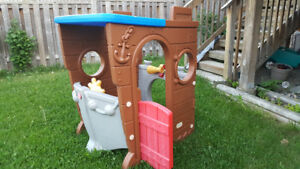 Pirate ship playhouse.