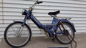 VINTAGE MOPED BOMBARDIER PUCH  ONLY $150.00