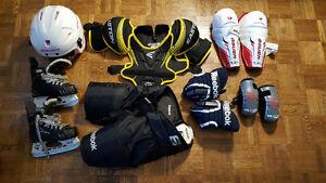 Youth small hockey equipment