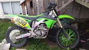REDUCED!!! 2010 kawasaki kx 450f for sale or trade