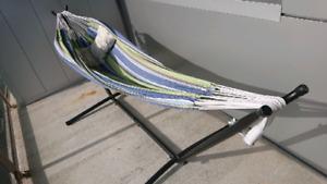 Indoor/outdoor hammock and stand