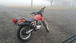 1981 Honda Xl 500 muffler and speedo