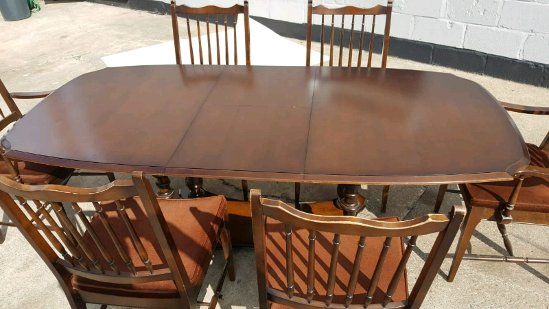 Fine Stag Dark Wood Dining Table With 6 Chairs 2 Being Carvers In Lincoln Lincolnshire Gumtree Onthecornerstone Fun Painted Chair Ideas Images Onthecornerstoneorg