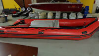 Mercury Heavy Duty Inflatable Boat Aluminum Floor in Auction