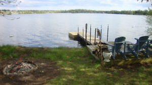 Lake Chemong 3 Bedroom Cottage Rental on the Water with Dock