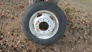 225 / 70R 19.5 New Tire with Rim