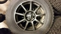195/65/15 Winter Tires and Alloy Rims 5x100 Bolt Pattern