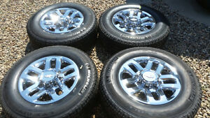 CHEV 2500 - 3500 HD CHROME ALUMINUM RIMS & TIRES 1400.00
