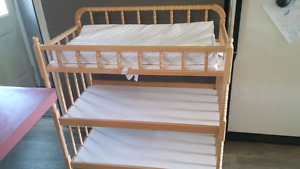 Maple baby change table...priced to sell!