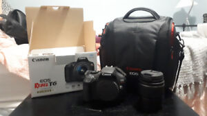 Canon EOS Rebel T6 EF-S 18-55 III Kit + Bag // Mint Condition