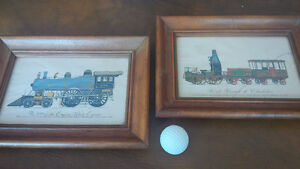 Two Framed Prints: Empire State Express & Charleston Train