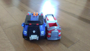 2 Paw patrol vehicles
