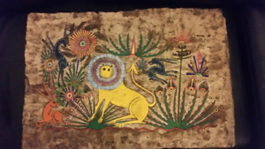 Hand painted Mexican art
