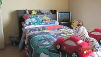 Twin Bed - Black - Great for Kids