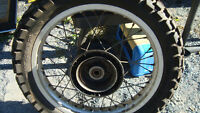 17 wheel tire and sprocket with rubbers brake for 85 honda xl350