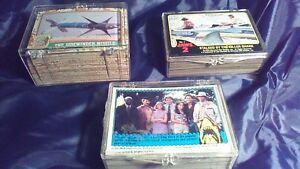 Desert Storm, Jaws 2 and Jaws 3D Trading Cards Complete Sets