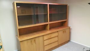 Buffet and Hutch (Solid Oak) for Sale-European Style -Best Offer