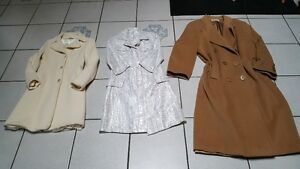 Womens Size small, size 38 and size 14 long coats