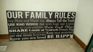Canvas Print Family Rules