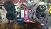 rc lipos,nihm batteries and 2 sets of tires 12mm hex