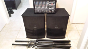 660w speakers (PA) with powered mixer