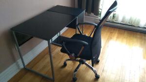 Bureau table et chaise informatique ordinateur