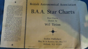 British Astronomical Association Star Charts(5)by W.Tirion(rare)