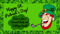 St. Patrick's Day Corned Beef and Cabbage Lunch