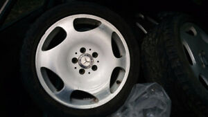 Mercedes alloy rims with used summer tires