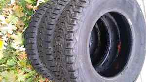 Used set of winter tires 300.00 Obo Kingston Kingston Area image 2