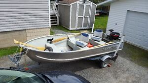 Boat, motor and trailer fishing package.
